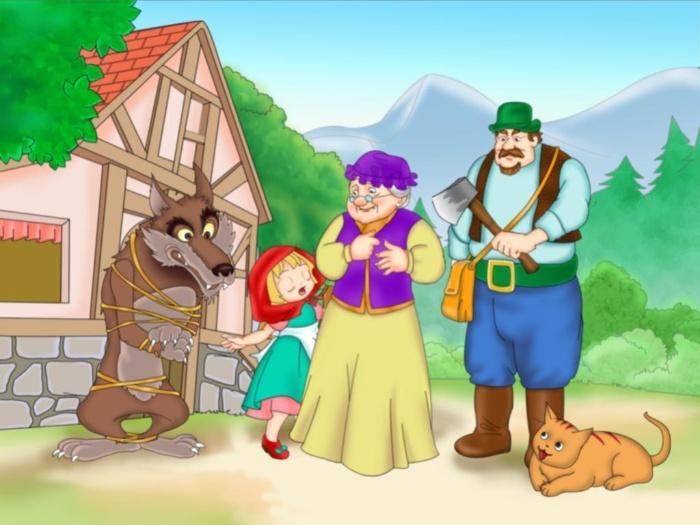 Mộng thấy bác thợ săn trong truyện cô bé quàng khăn đỏ
